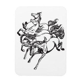 four horses magnet