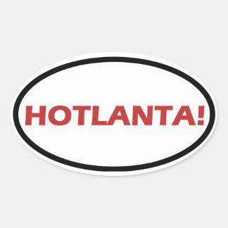 "FOUR ""HOTLANTA!"" OVAL STICKER"