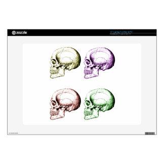 Four human skulls decal for laptop