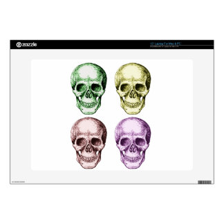 Four human skulls decals for laptops