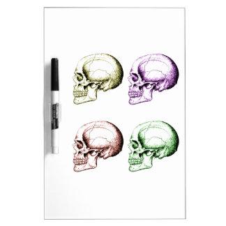 Four human skulls Dry-Erase board