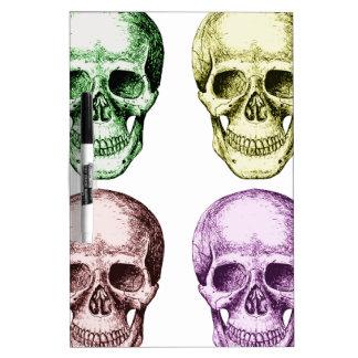 Four human skulls Dry-Erase boards