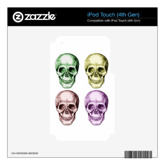 Four human skulls iPod touch 4G skin