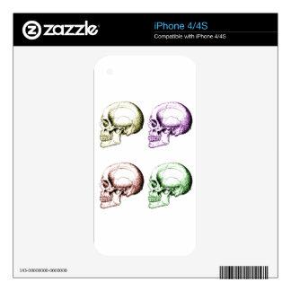 Four human skulls iPhone 4 skins
