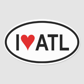 "FOUR ""I [heart] Atl"" Oval Sticker"