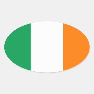 FOUR Ireland Flag Oval Sticker