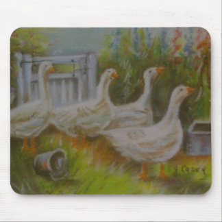 Four Irish Geese pastel drawing by Joanne Casey -  Mouse Pad