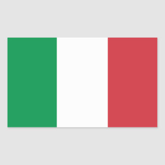 FOUR Italy National Flag Rectangular Sticker
