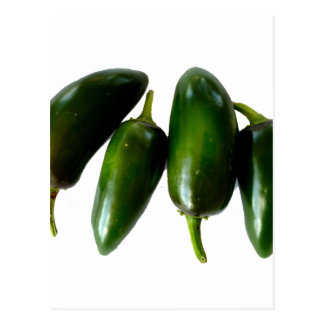 Four Jalapeno Peppers Green Photograph Postcard