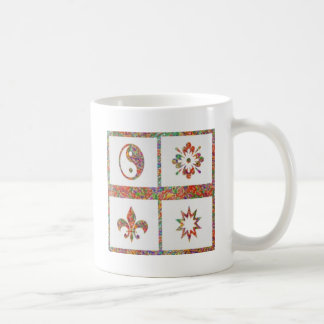 Four Jewels on 3 Artist Created Color Pallets Coffee Mug