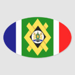 FOUR Johannesburg Flag Oval Stickers