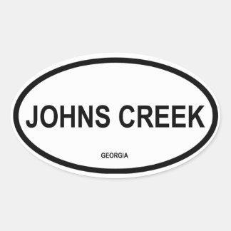 FOUR Johns Creek Oval Sticker
