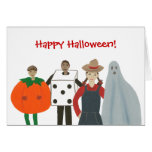 Four Kids in Costumes, Happy Halloween Cards