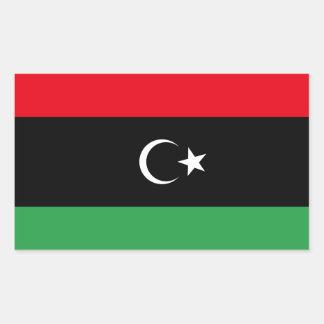 FOUR Kingdom of Libya Flag (1951-1969) Rectangular Sticker