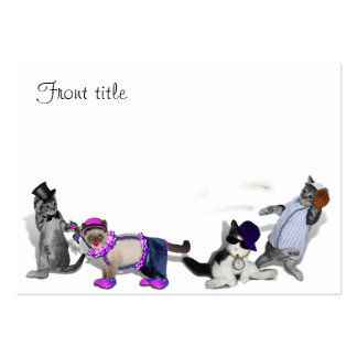 Four Kittens At Play Large Business Cards (Pack Of 100)