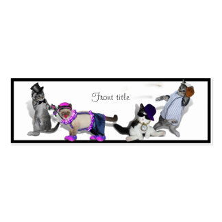 Four Kittens At Play Double-Sided Mini Business Cards (Pack Of 20)