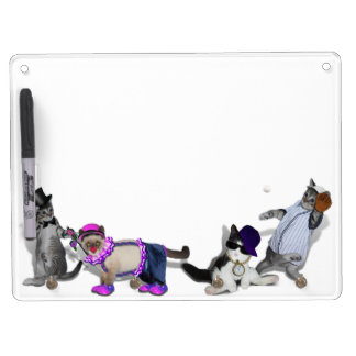 Four Kittens At Play Dry Erase Board