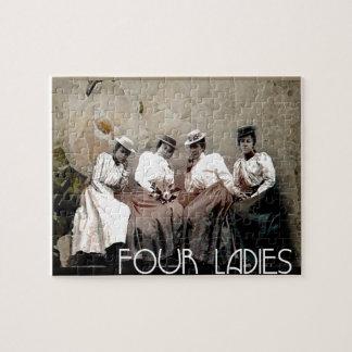 Four Ladies Vintage Jigsaw Puzzle