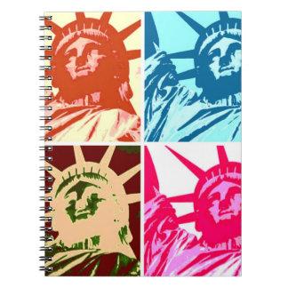 Four Lady Liberty Pop Art Notebook