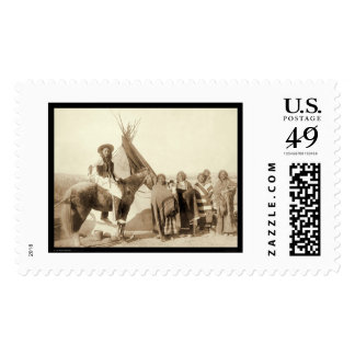 Four Lakota Indian Women in front of Tipi SD 1891 Postage