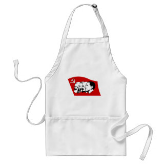 Four leaders of socialism adult apron