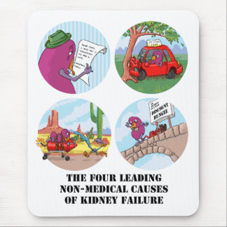 Four Leading Causes of Non-Medical Kidney Failure Mouse Pad