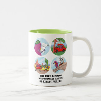 Four Leading Causes of Non-Medical Kidney Failure Two-Tone Coffee Mug