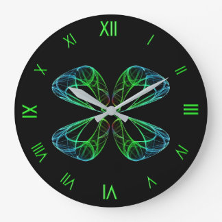 Four Leaf Abstract Large Clock