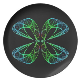 Four Leaf Abstract Plate