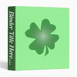 """Four Leaf Clover - 1"""" 3 Ring Binder"""