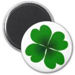 four-leaf clover 2 inch round magnet