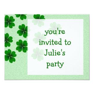 """four-leaf clover 4.25"""" x 5.5"""" invitation card"""