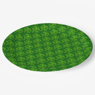 Four Leaf Clover-9in Paper Party Plates