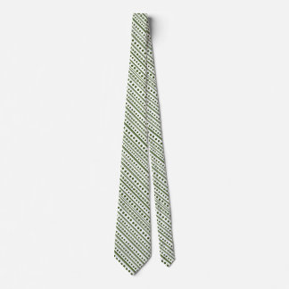 Four-Leaf-Clover and paw Print Tie