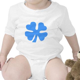 Four Leaf Clover - Baby Blue Bodysuit
