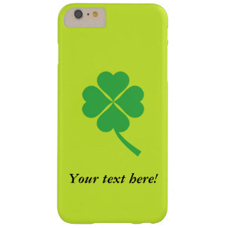 Four-leaf clover barely there iPhone 6 plus case