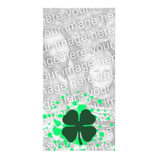 four leaf clover bubbles card