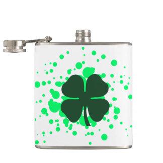 four leaf clover bubbles flask