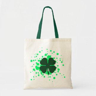 four leaf clover bubbles tote bag
