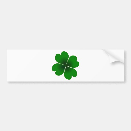 four-leaf clover bumper sticker