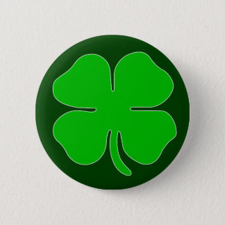 Four Leaf Clover Button