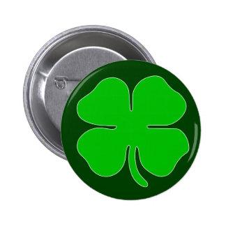 Four Leaf Clover Button