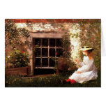 Four-Leaf Clover by Winslow Homer Note Cards