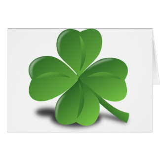 FOUR LEAF CLOVER CARD