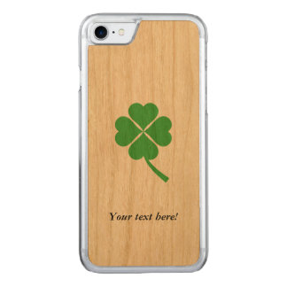 Four-leaf clover carved iPhone 7 case