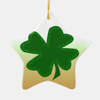 Four Leaf Clover Ceramic Ornament