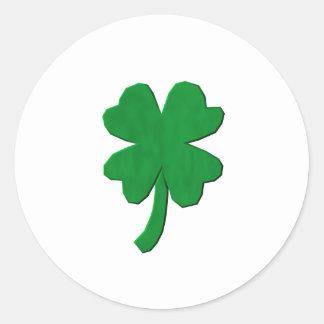 Four Leaf Clover Classic Round Sticker