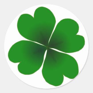 four-leaf clover classic round sticker