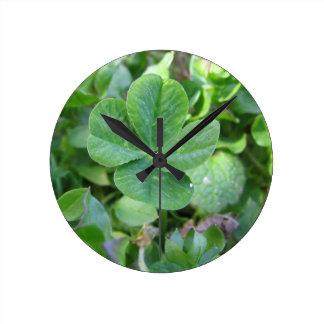 Four Leaf Clover Wall Clocks
