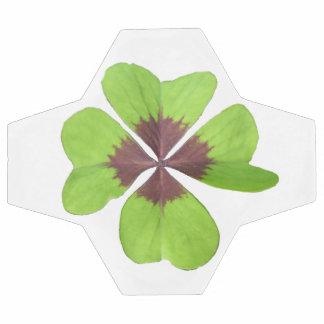 Four Leaf Clover Customizable Soccer Ball White